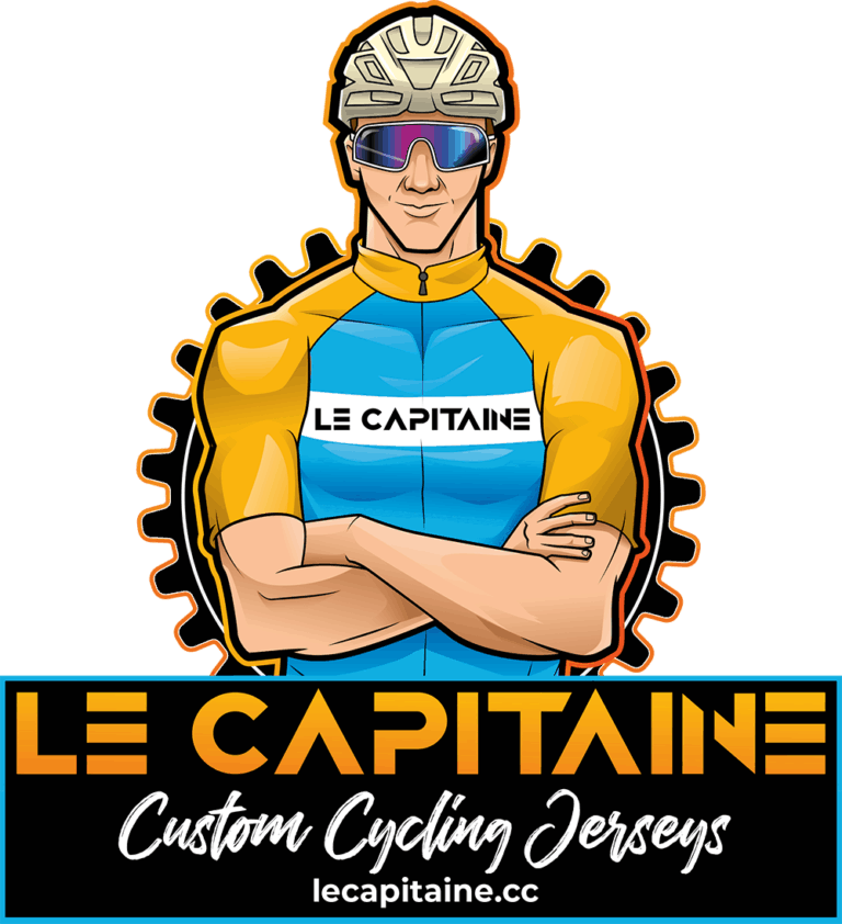le capitaine cycling jerseys logo and cyclist